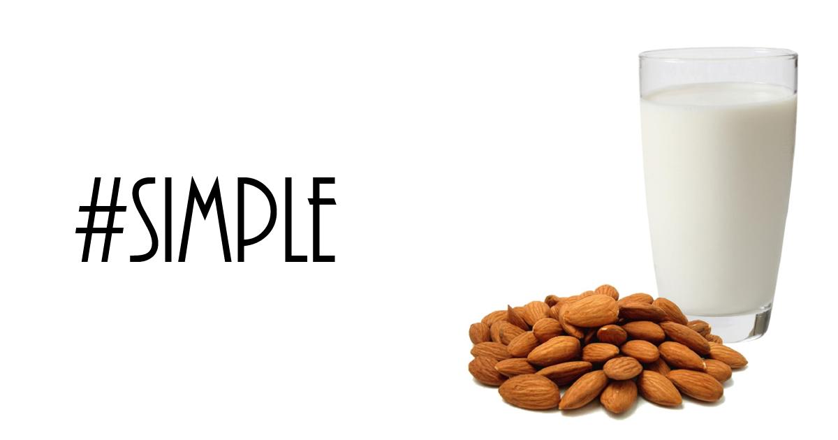 Simplest almond milk